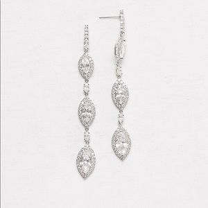 Marquise-Cut Cubic Zirconia Drop Earrings
